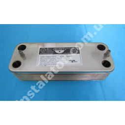 17B2071213 Теплообмінник вторинний Saunier Duval Themaclassic, Combitek (ZILMET)12 пластин