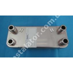 065131 Теплообмінник вторинний (ГВП) 12 пластин VAILLANT PRO-PLUS (зелені ручки)